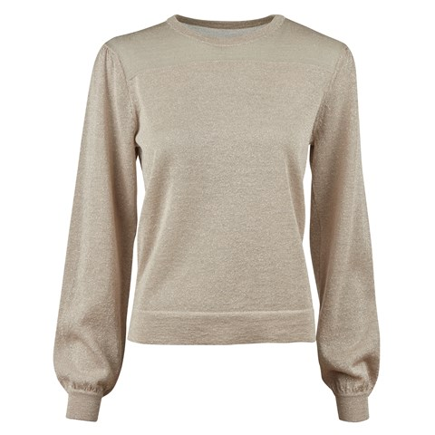 Beige Metallic Sweater
