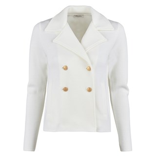 White Jacket With Pleated Back