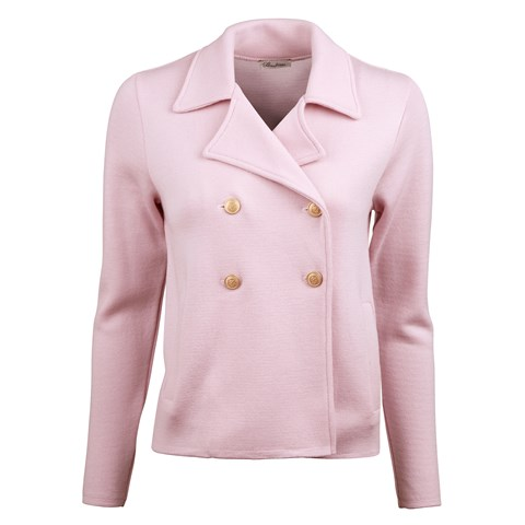 Light Pink Jacket With Pleated Back