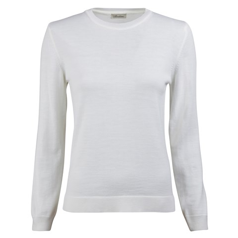 White Merino Crew Neck