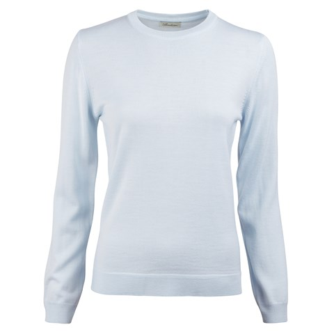Light Blue Merino Crew Neck