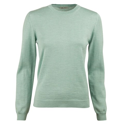 Mint Green Merino Crew Neck