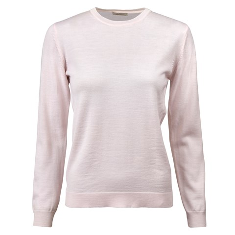 Light Pink Merino Crew Neck