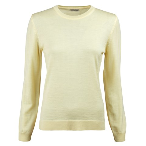 Yellow Merino Crew Neck