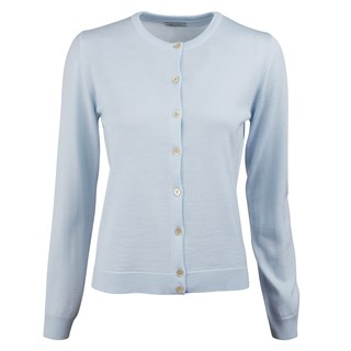 Light Blue Merino Cardigan