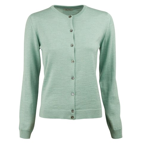 Mint Green Merino Cardigan
