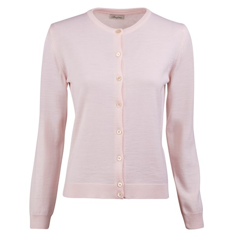 Light Pink Merino Cardigan