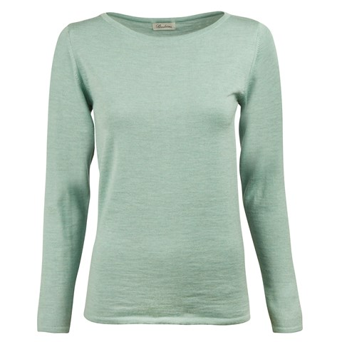 Mint Green Merino Boat Neck