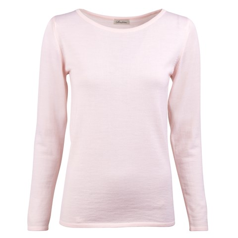 Light Pink Merino Boat Neck