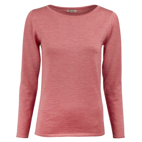 Pink Merino Boat Neck Sweater