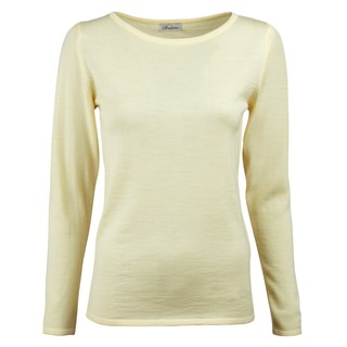 Yellow Merino Boat Neck Sweater