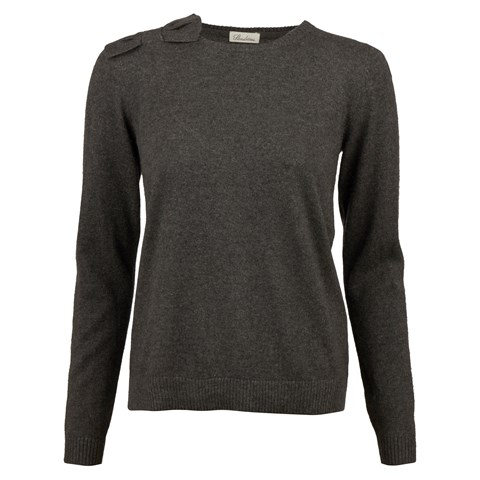 Grey Cashmere Sweater With Bow