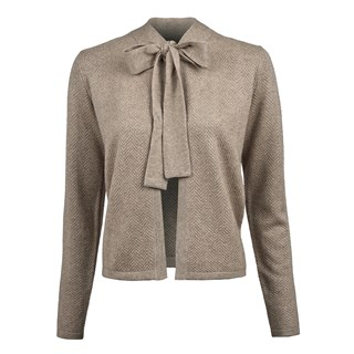 Silk Cashmere Cardigan With Bow