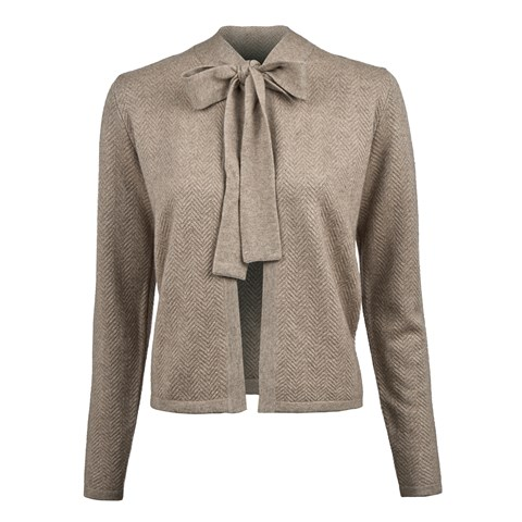 Mud Brown Silk/Cashmere Cardigan