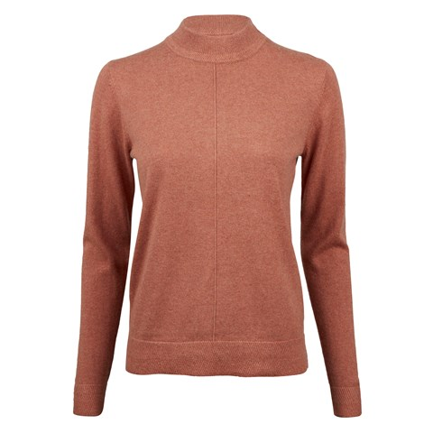 Orange Half Turtle Neck Cashmere Blend