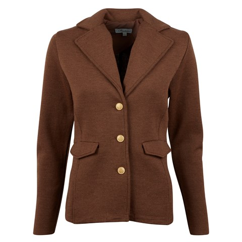 Brown Merino Jacket W Lapels