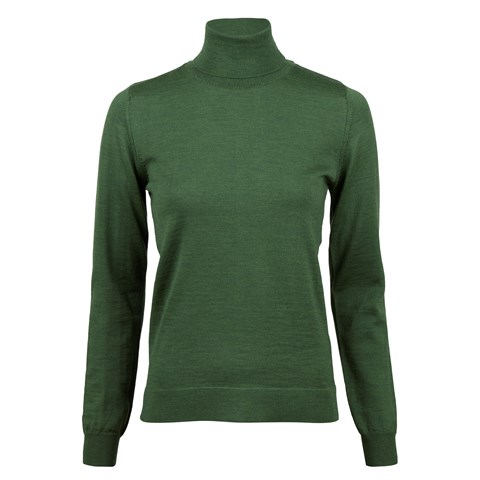 Green Merino Roll Neck