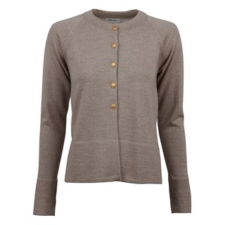 Beige Cardigan With Golden Buttons