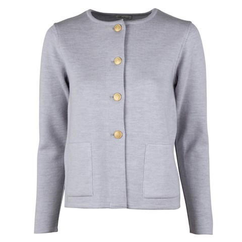 Stina Merino Cardigan Light Blue