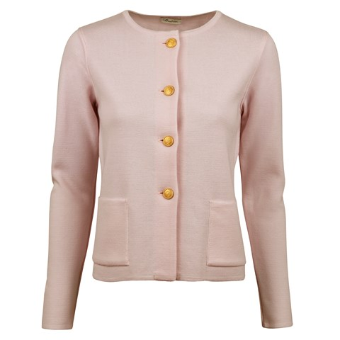 Stina Merino Cardigan Light Pink