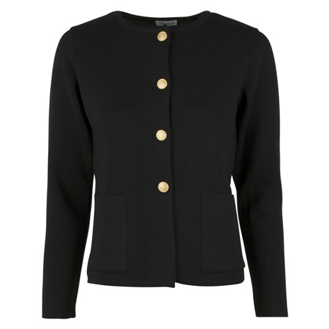 Stina Merino Cardigan Black