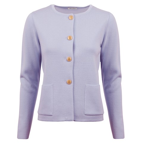 Stina Merino Cardigan Purple