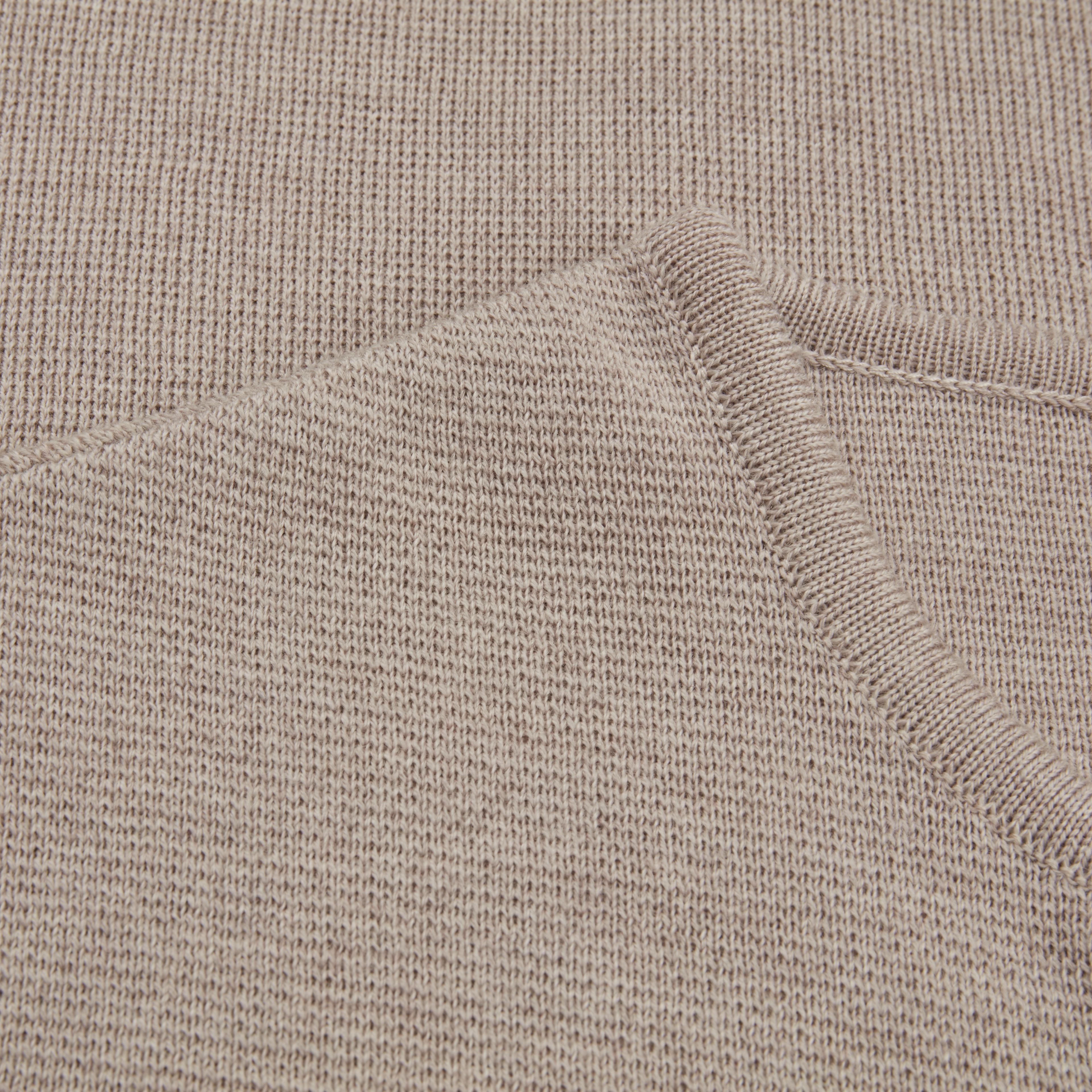 Short Beige Cape in Merino Wool