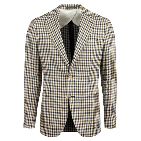 Checked Linen Blazer