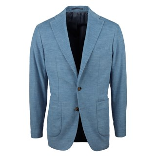 Light Blue Corduroy Cotton Blazer