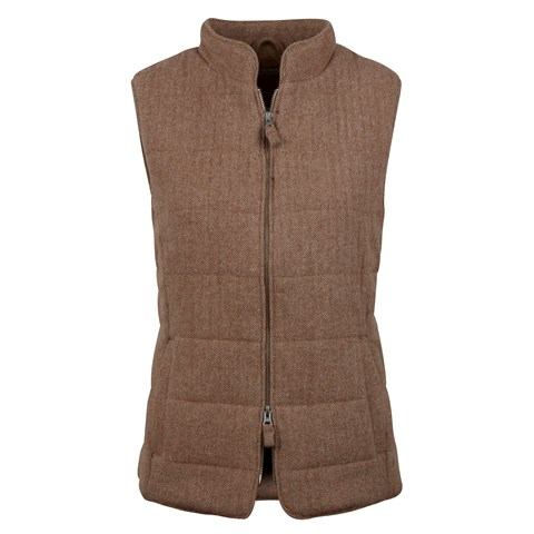 Herringbone Padded Wool Vest
