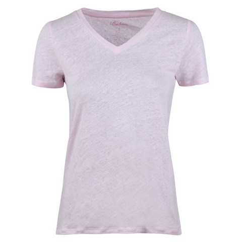 Sandra Linen T-shirt Light Pink