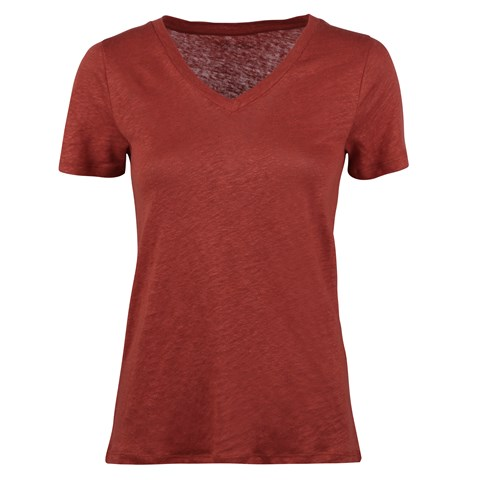 Sandra Linen T-shirt Red