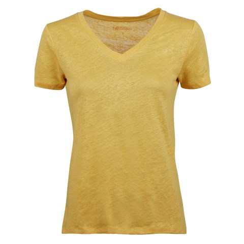 Sandra Linen T-shirt, Yellow