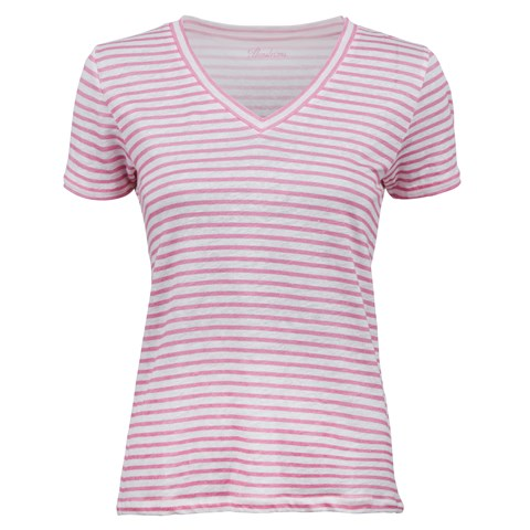 Striped Patterned Linen T-shirt