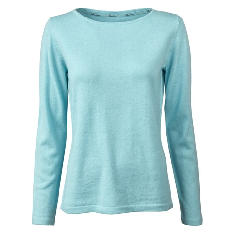 Aqua Boat Neck Sweater