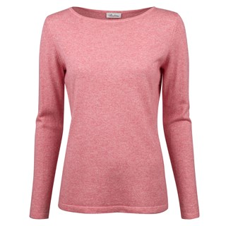 Pink Boat Neck Sweater