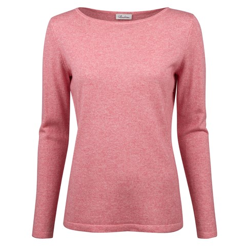 Pink Silk Cashmere Boat Neck