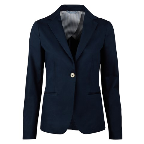 Navy piquet jacket