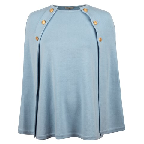 Light Blue Cape in Merino Wool