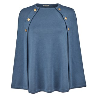 Mary Merino Cape Blue