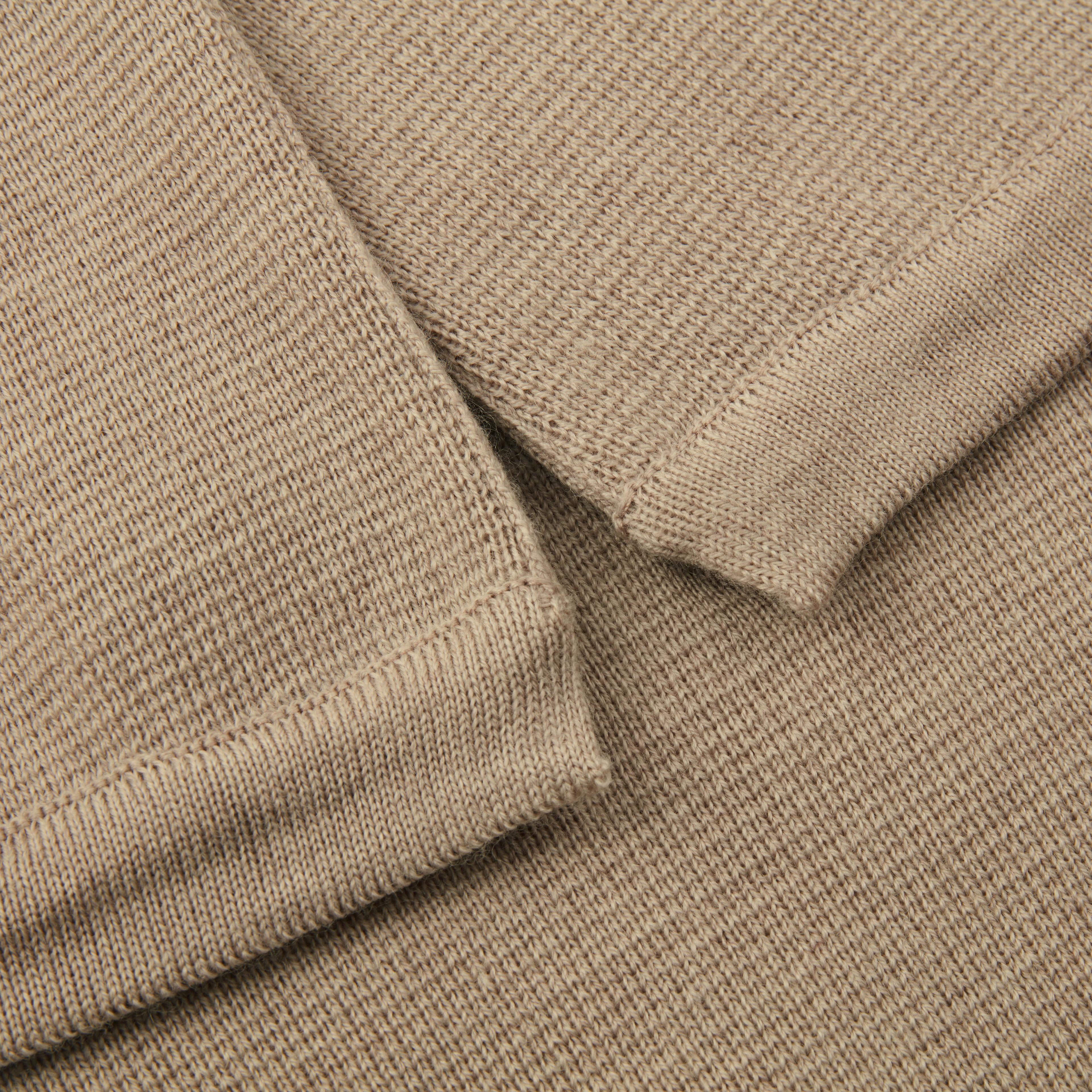 Beige Cape in Merino Wool