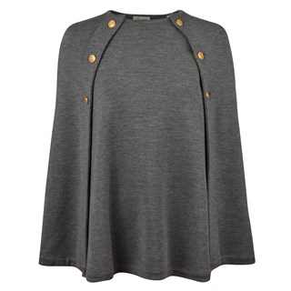 Grey Cape in Merino Wool