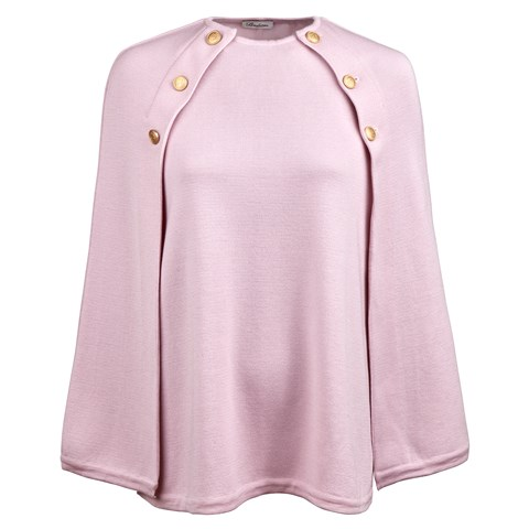 Light Pink Cape in Merino Wool