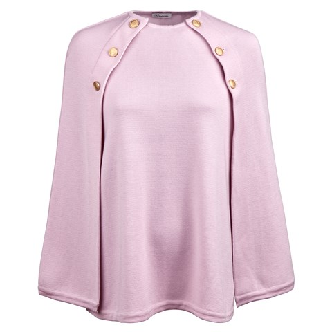 Pink Cape in Merino Wool