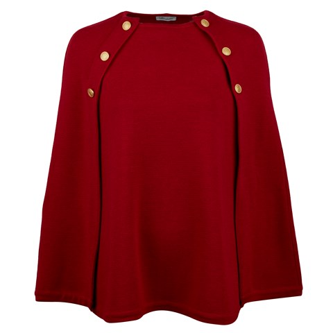 Red Cape in Merino Wool