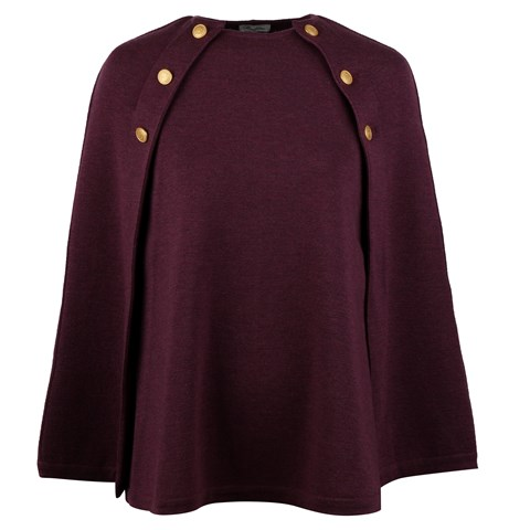 Mary Merino Cape Purple