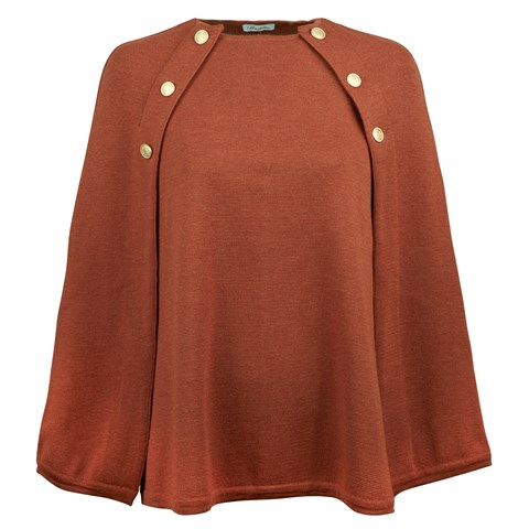 Rust Cape in Merino Wool