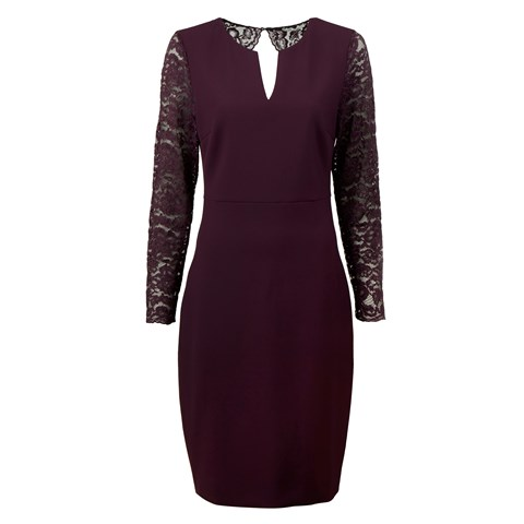 Plum Lace Dress