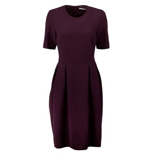 Plum Dress With Pleats