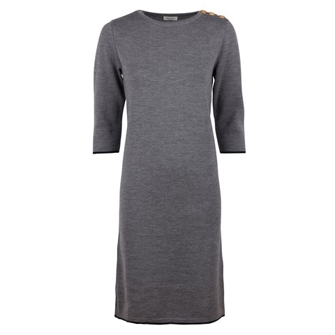 Grey Knitted Merino Dress